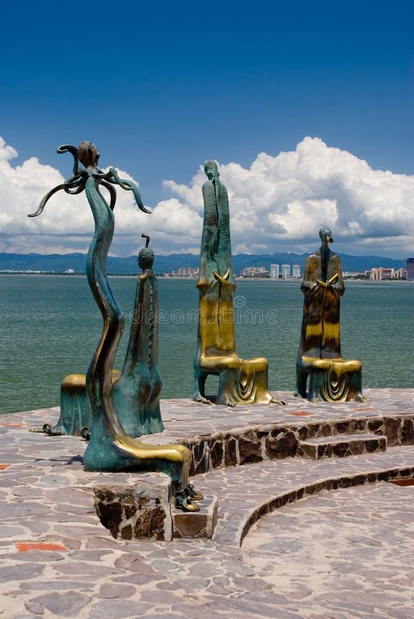vallarta puerto s malecon стоковые фото