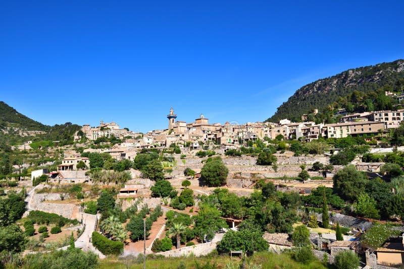 Valldemossa美丽的村庄在马略卡的 库存照片