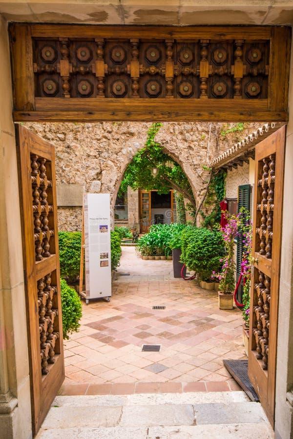 Valldemossa, giardino di Frederick Chopins immagini stock libere da diritti