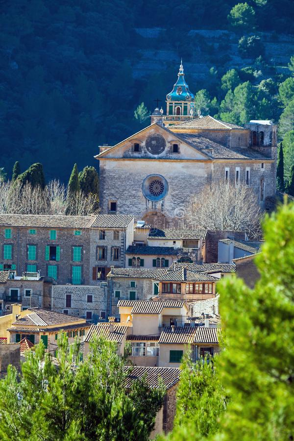 Valldemossa Mallorca Spain In the old town of Valldemossa. Valldemossa Mallorca Spain 20.December 2018 In the old town of Valldemossa stock photography