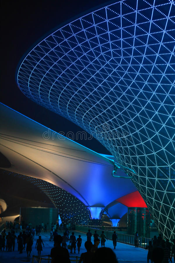 Valle asoleado del bulevar de la expo del mundo de Shangai imagenes de archivo