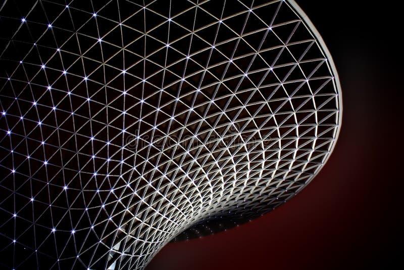 Valle asoleado del bulevar de la expo del mundo de Shangai fotografía de archivo libre de regalías