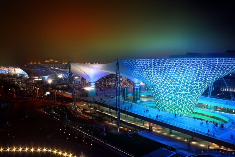 Valle asoleado del bulevar de la expo del mundo de Shangai foto de archivo libre de regalías