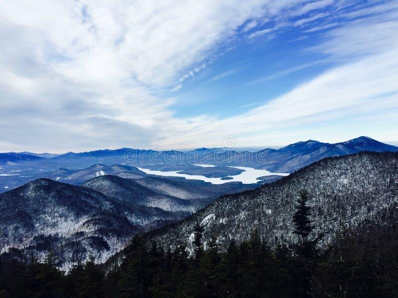 Valle congelata fotografie stock