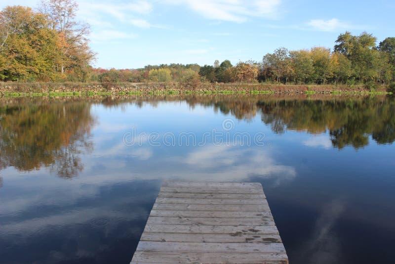 Valle Dcok di Blackstone dell'azienda agricola della curvatura del fiume immagini stock