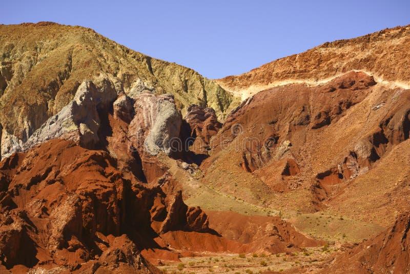 Valle de Arcoiris, San Pedro de Atacama, Chile royaltyfria foton