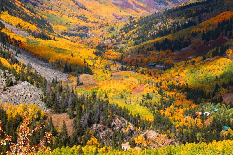 Valle de Aspen imagen de archivo libre de regalías