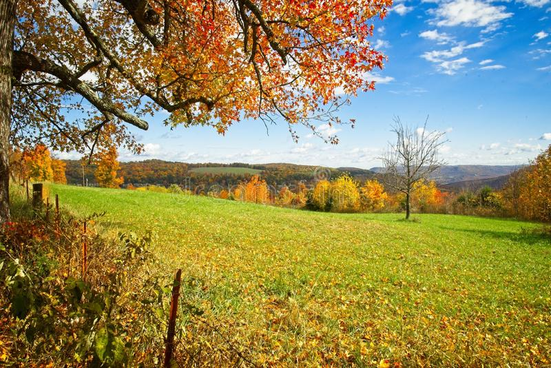 Valle de Boxley durante las hojas máximas de la caída imagen de archivo