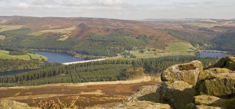 Valle de Derwent de la colina del triunfo, Derbyshire imagenes de archivo