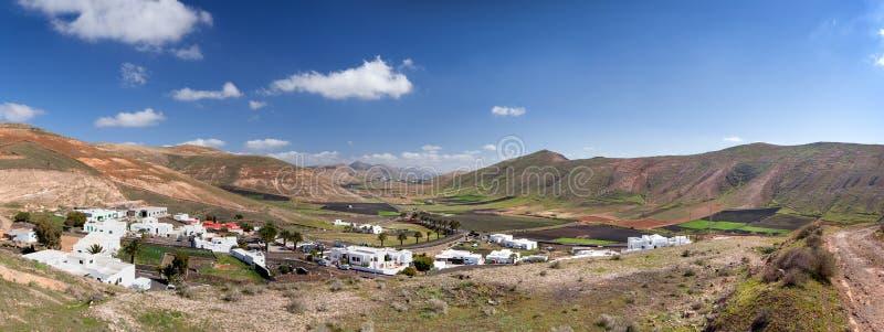Valle de Femes em Lanzarote imagens de stock royalty free
