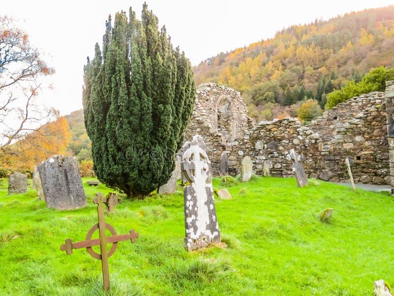 Valle de Glendalough, montañas parque nacional, Irlanda de Wicklow imágenes de archivo libres de regalías