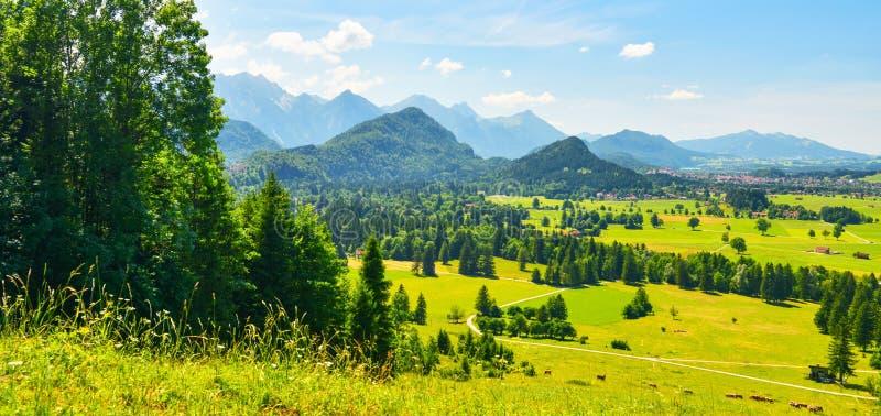 Valle de Hohenschwangau del verano, Baviera, Alemania fotos de archivo