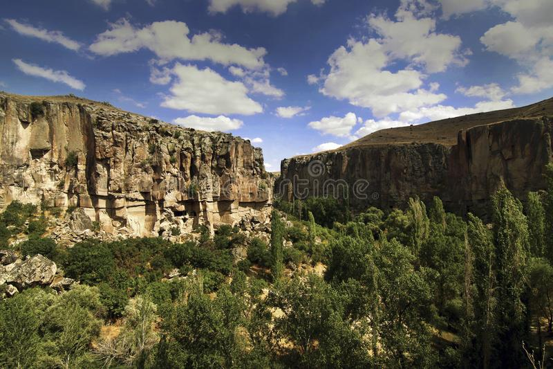 Valle de Ihlara, Turquía imagen de archivo libre de regalías
