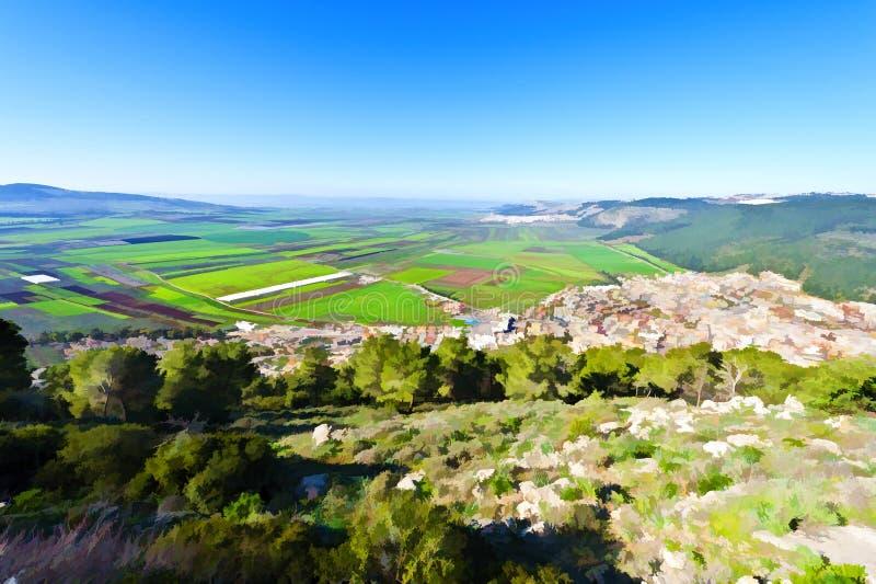 Valle de Jezreel en Israel libre illustration