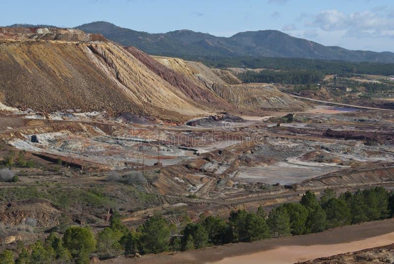 Valle de la explotación minera fotos de archivo libres de regalías