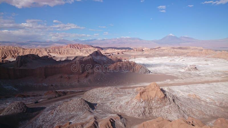 Valle de la Luna, Atacama Desert, Chile. The Moon Valley, Valle de la Luna in the Atacama Desert in northern Chile stock photo
