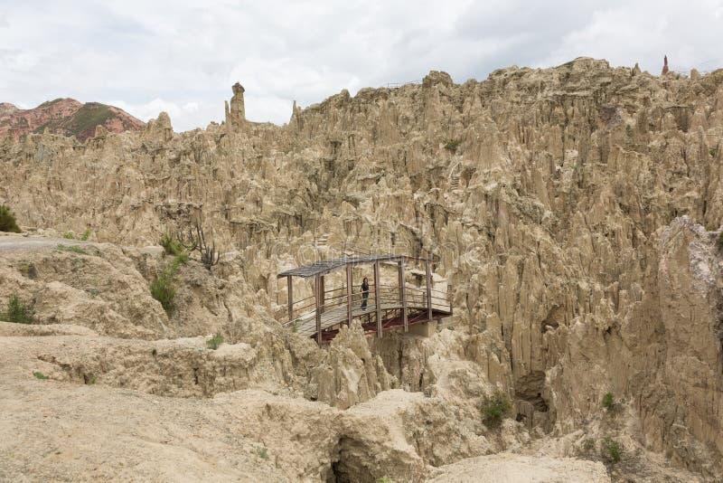 Valle de la luna cerca de La Paz, Bolivia imagen de archivo libre de regalías