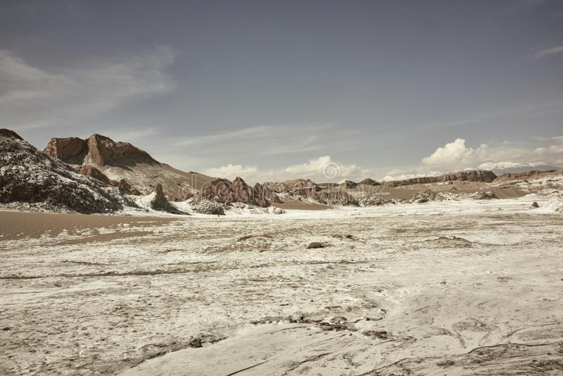 Valle de la Luna Chile Landscape Scenery and Rock Formations royalty free stock photo