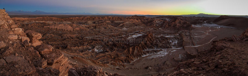 Valle de la Luna, Cordillera de la Sal, Atacama Desert, Chile royalty free stock photos