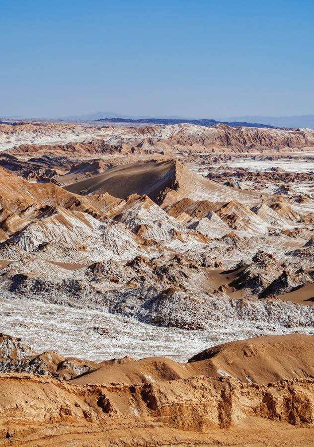 Valle de la luna, desierto de Atacama en Chile imagenes de archivo