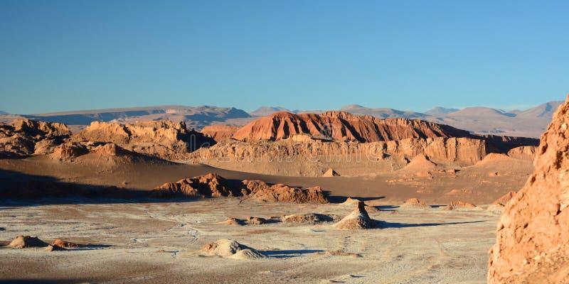 Valle-De-La Luna-Landschaft San Pedro de Atacama chile lizenzfreie stockbilder