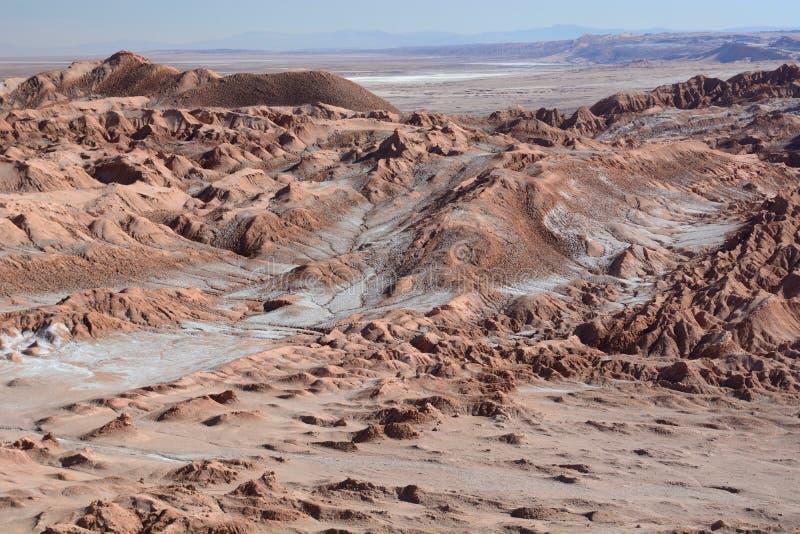 Valle DE La Luna of Maanvallei San Pedro de Atacama chili royalty-vrije stock afbeelding