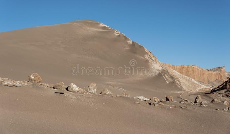 Valle-De-La Luna Moon Valley in Atacama-Wüste nahe San Pedro de Atacama, Antofagasta - Chile lizenzfreies stockfoto