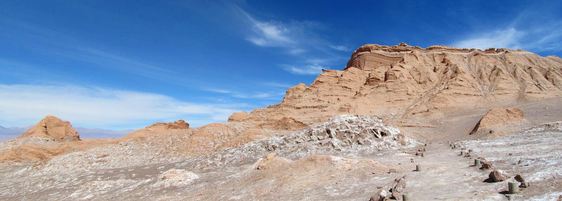 Valle de la Luna, Moon valley in San Pedro de Atacama desert stock photography