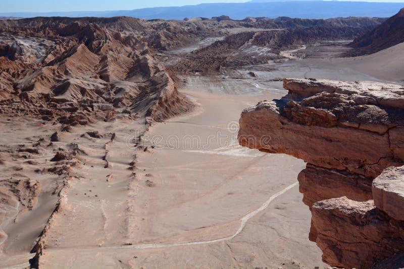 Valle-De-La Luna oder Mond-Tal San Pedro de Atacama chile lizenzfreie stockfotografie