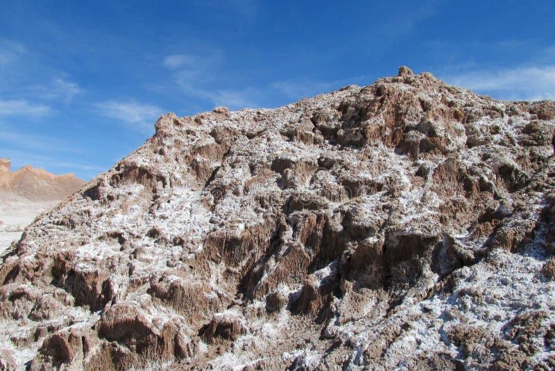 Valle de la Luna salty mountains in Atacama, Chile stock photos