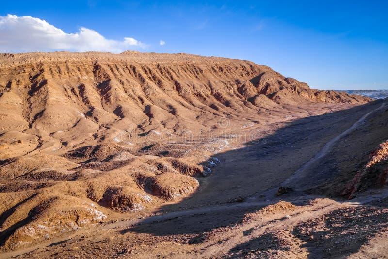 Valle-De-La Luna in San Pedro de Atacama, Chile lizenzfreie stockfotos