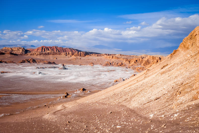 Valle-De-La Luna in San Pedro de Atacama, Chile stockbilder
