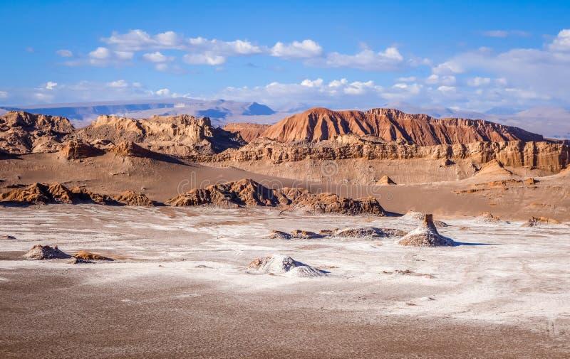 Valle de la Luna in San Pedro de Atacama, Chile. Valle de la Luna landscape in San Pedro de Atacama, Chile stock image
