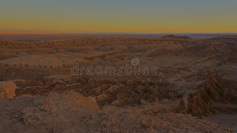 Valle de la luna, San Pedro de Atacama, Chile royalty free stock photo