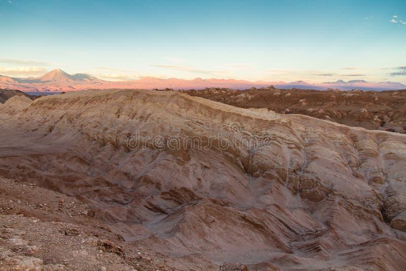 Valle-De-La Luna Valley der Mondlandschaft in der Atacama-Wüste, nördlich von Chile stockfotografie