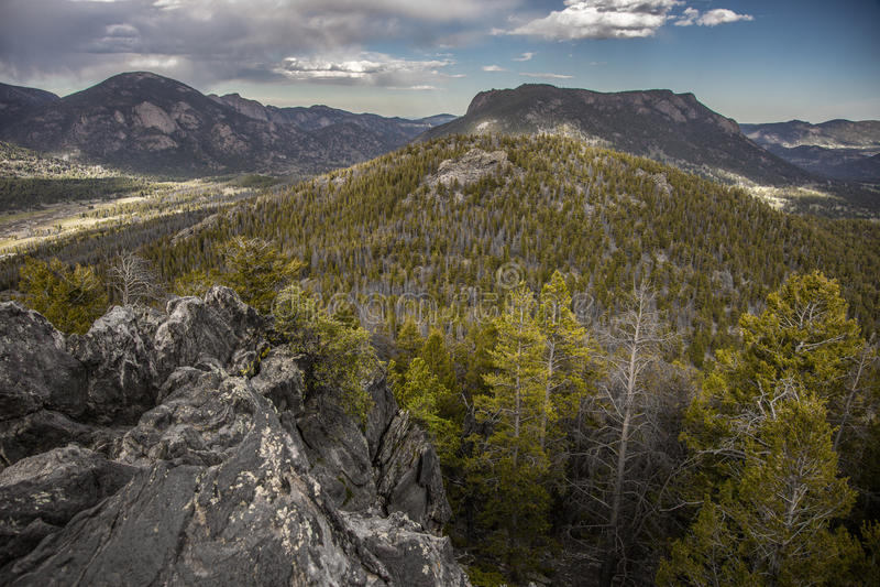 Valle de la montaña de Colorado imagen de archivo