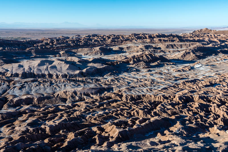 Valle de La Muerte - deserto de Atacama imagem de stock