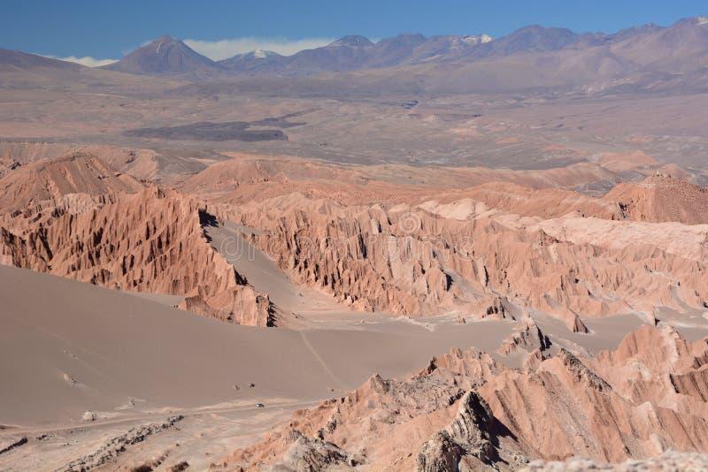 Valle DE La muerte of doodsvallei San Pedro de Atacama chili royalty-vrije stock fotografie