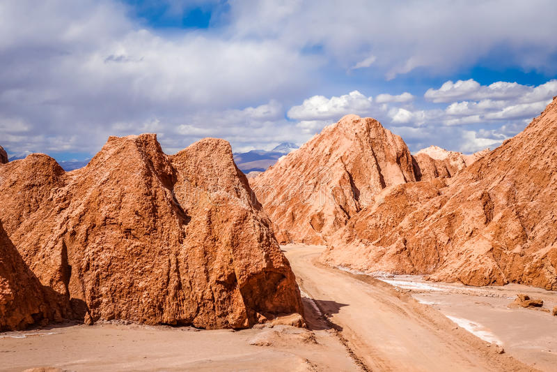 Valle de la muerte in San Pedro de Atacama, Chile. Valle de la muerte landscape in San Pedro de Atacama, Chile royalty free stock photos