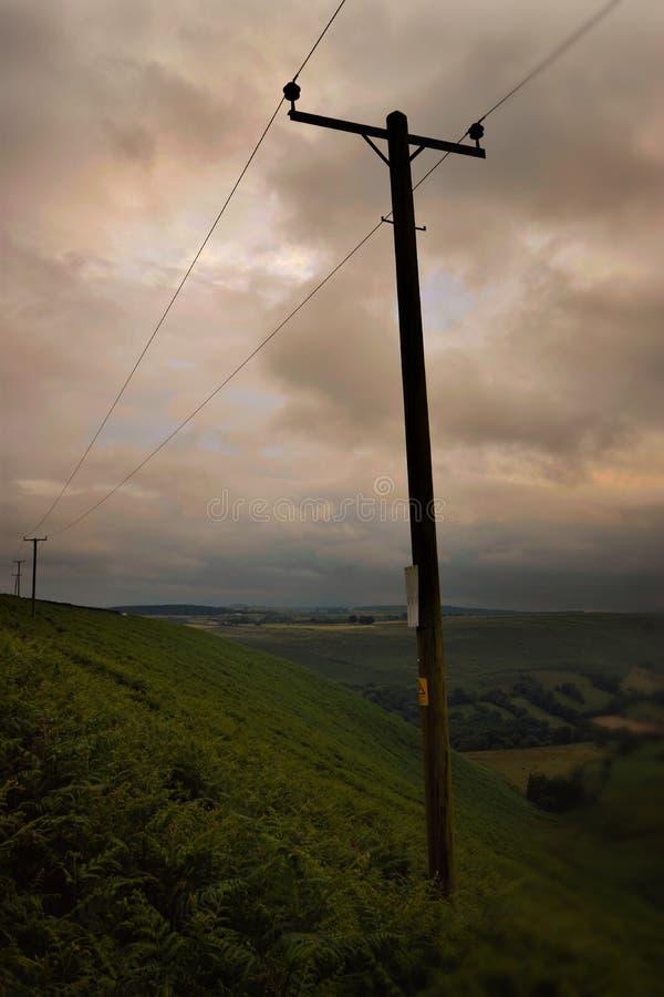 Valle de la puesta del sol fotografía de archivo