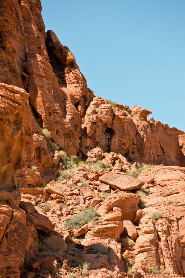 Valle de las formaciones de roca del fuego imagen de archivo libre de regalías
