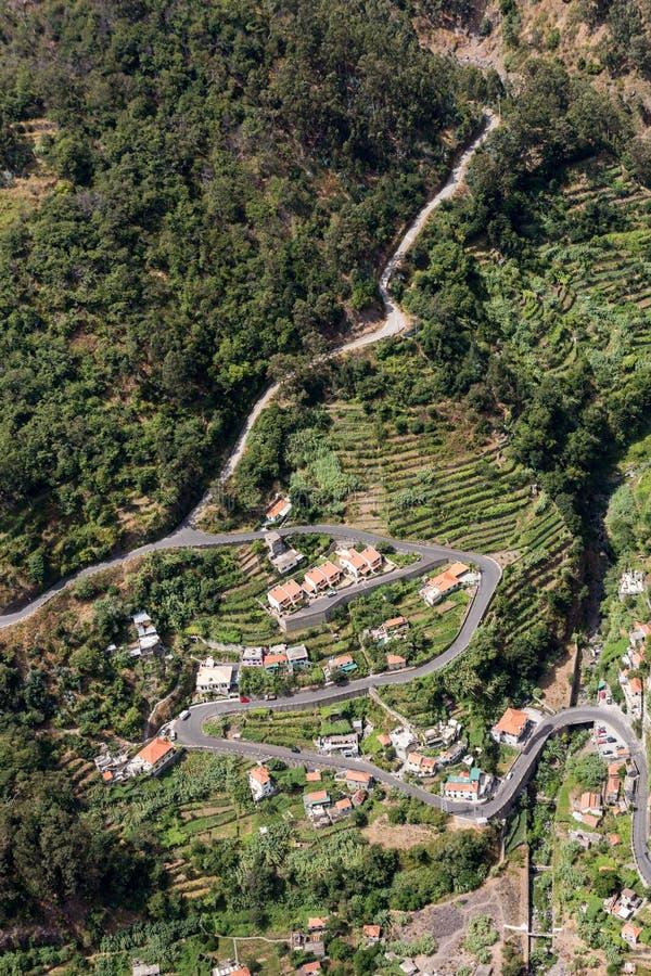 Valle de las monjas, Curral das Freiras en la isla de Madeira imágenes de archivo libres de regalías