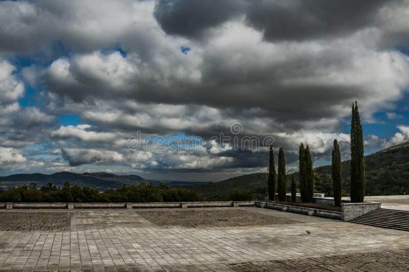 Valle de Los Caidos Tal von gefallen Madrid, Spanien stockfoto