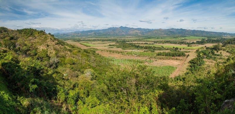 Valle de los Ingenios dal nära Trinidad, Cu arkivbild