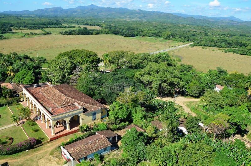 Valle de los ingenios; Iznaga, Cuba foto de archivo