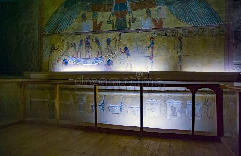 Valle de los reyes, Egipto 18 de febrero de 2017: Interior del Eg. fotos de archivo