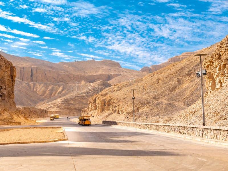 Valle de los reyes el lugar del entierro de Pharaohs egipcios fotos de archivo libres de regalías