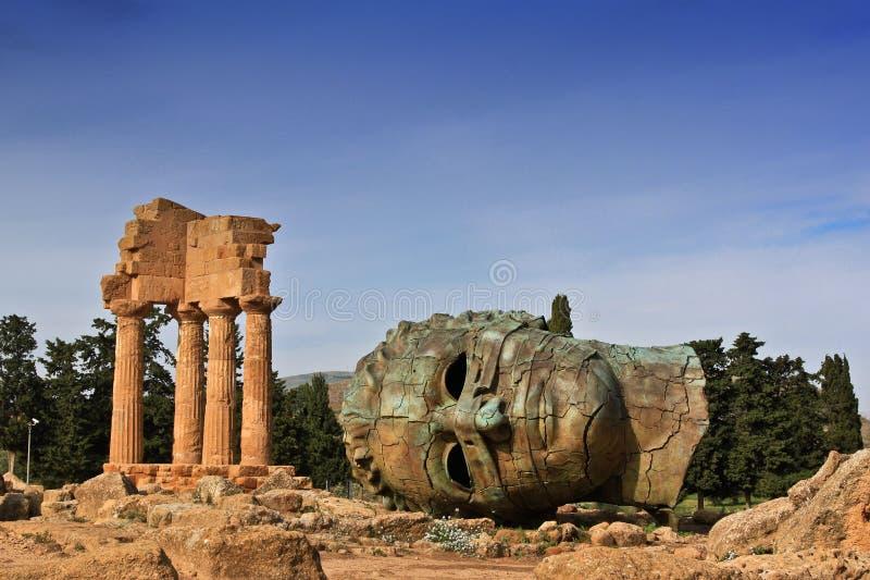 Valle de los templos imagen de archivo