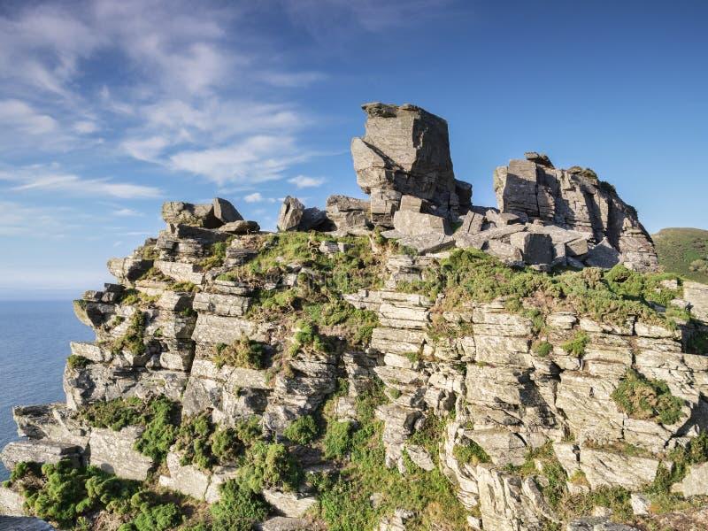 Valle de Lynmouth de las rocas BRITÁNICAS fotografía de archivo libre de regalías