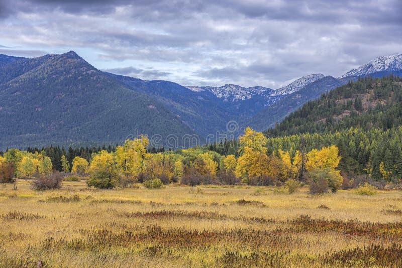 Valle de Montana en otoño foto de archivo libre de regalías